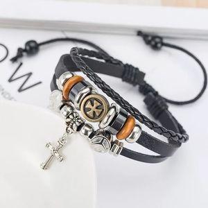 Mixed Wrap Bracelet with Cross